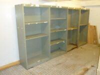 Office Storage Cuboards, Metalx4 with shelfing