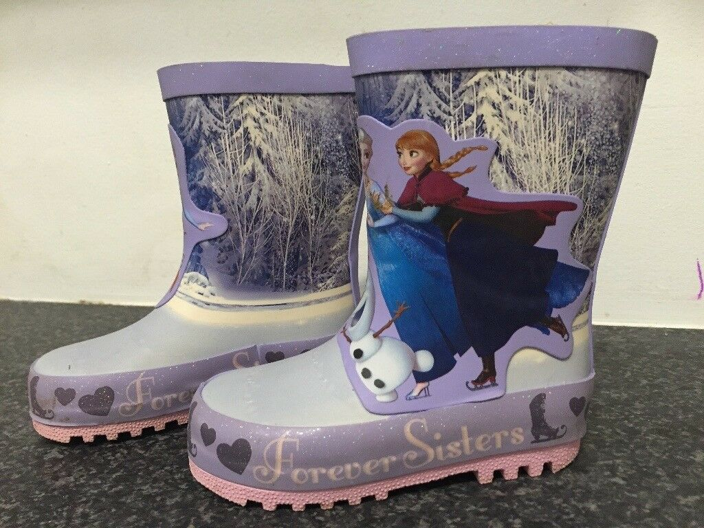 frozen welly boots.