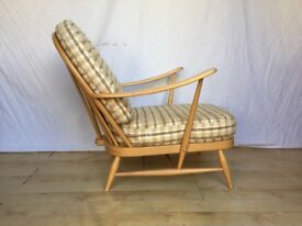 Vintage Ercol 203 easy lounge armchair chair 1960s mid century