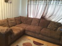 Large scatterback corner sofa with sofa bed and large chair