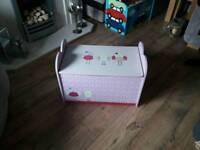 Girls Pink toy box, storage unit.