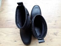 M&S black biker ankle boots. Brand new, never worn. Size 6.