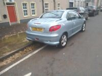 Peugeot 206 convertable 2004 £850.ono mot may 17