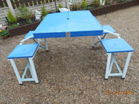 heavy duty fold away picnic table and seats