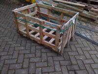 2 Wooden Pallet Crates 110x75cm