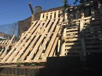 Approx 15 wooden pallets free to collector