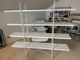 Ikea Enetri freestanding shelving unit in White. Immaculate condition.