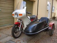 YAMAHA XS250, 1978, 16000 MILES, WITH SQUIRE SIDECAR AND FAIRING