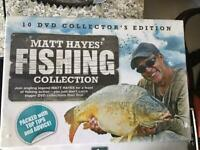 10 DVD Matt Hayes fishing collection brand new and sealed.