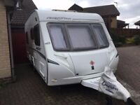 2008 Abbey Freestyle 480 4 berth caravan with motor mover, fixed bed and 2 awnings