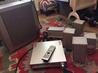 6 speaker Panasonic DVD Cinema Home entertainment system