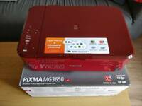 Canon Pixma MG3650 printer + scanner + new ink cartridges!