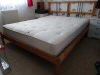 king size bed with Posturepedic (Back Care Support) mattress