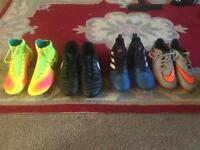 Football Boots sizes 7, 8, 9 and 9.5