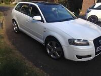 WHITE AUDI A3 SPORTBACK 2.0TDI NEW TURBO NEW TIMING BELT & WATER PUMP LONG MOT MAY SWAP GOLF BMW A4
