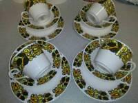 VINTAGE RETRO 1970'S TEA SET IN PURE BONE WHITE CHINA