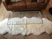 Clear acrylic coffee table, high quality plastic / perspex