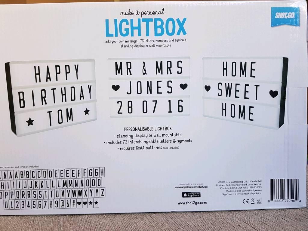 A4 cinematic light box