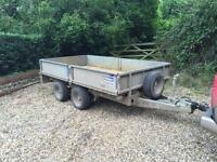 Ifor Williams trailer with steel skids