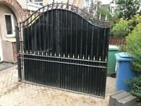 Solid wrought iron gate in good condition
