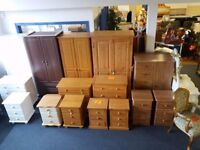 BRAND NEW bedroom sets available in pine,oak,white and walnut