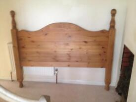 Double bed solid pine headboard