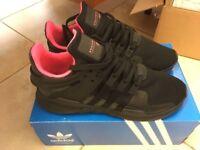 Adidas Originals EQT Support ADV / Black/Pink / SIZE 10uk