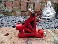 PRO HAND BUILT TATTOO MACHINE SPIDERMAN RED AND BLUE HAND WOUND COILS SHADER UK