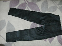JTS Leather Motorcycle Trousers