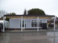 32ft X 8'6ft Cabin site office with canopy.