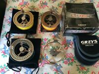 Greys G Tec 380 Series Drag System Reel with 3 Spools. Fly Fishing
