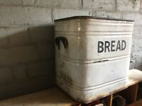 Original Enamel Bread Bin 2 Available- can deliver