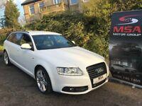 2011 AUDI A6 AVANT 2.0 TDI S LINE SPECIAL BLACK EDITION WARRANTY LE MANS Estate diesel white 520d