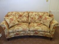 Greensmith Curved Linen Shabby Chic Sofa- absolutely stunning!!