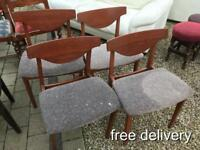 🎅 FREE DELIVERY 4 retro chairs