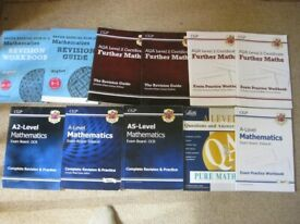 A Level Mathmatics & Biology Revision / Workbooks & some GCSE books