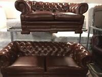 Tan chesterfield 3 and 2 sofa set