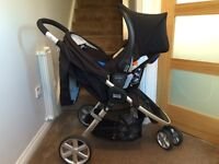 Britax - Car seat, Isofix base and Pushchair