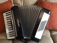 Accordion 48 bass with case and straps