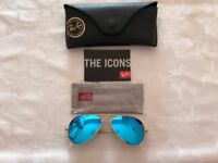 Ray-ban, Sunglasses gold/blue RB3025 size 55 original aviator