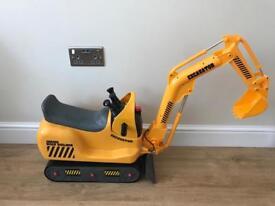 Children's yellow digger junior road builder excavator