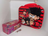 Dennis The Menace and Gnasher Lunch Bag & high school musical metal pencil case