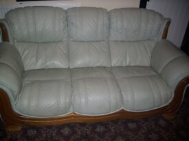 quality leather sofa and 2 chairs