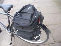 Raleigh triple pannier bag with detachable rucksack
