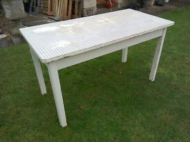 Vintage Dining Table with Drawer