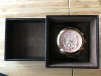 Rose Gold Michael Kors Chronograph Oversized Watch