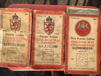 Old maps of Edinburgh, Glasgow and Gainsborough