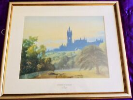 University of Glasgow print by Thomas Campbell