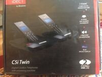 Binatone iDECT C5i twin digital cordless with answering mc New