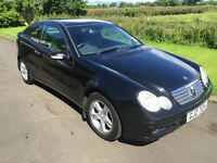 2004 Mercedes C200K Coupe Auto full leather, FMBSH, only 59k, Mot Feb 2017 6mth warranty